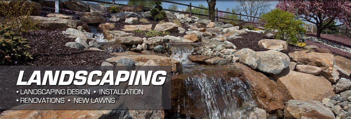 custom landscaping and water garden designs