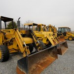 Fleet of excavation vehicles