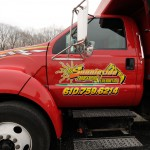 closeup of Sunnieside logo on truck