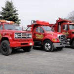 Fleet of Sunnieside Landscaping and Excavating trucks