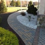 wraparound walkway leading to backyard