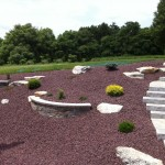 mulched Garden with winding walkway