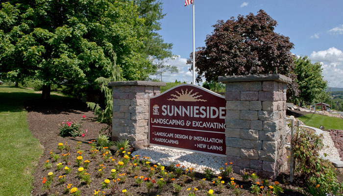 sign for sunnieside landscaping